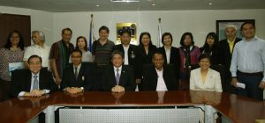 Department of Trade and Industry's (DTI) Industry Promotion Group Officer in Charge and Board of Investments (BOI) Executive Director Raul V. Angeles (second from right, seated) poses with (from left, seated) Federation of Thai Industries Board Director